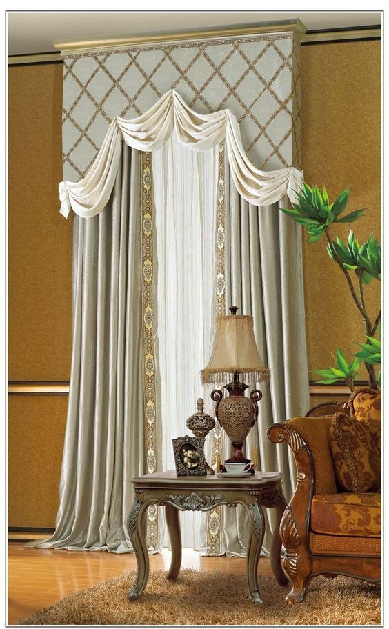 Classic Traditional Window Treatment Living Room
