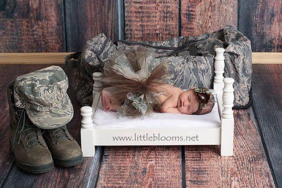 Military Newborn Tutu Military Tutu Camo by LittleBloomsSpokane