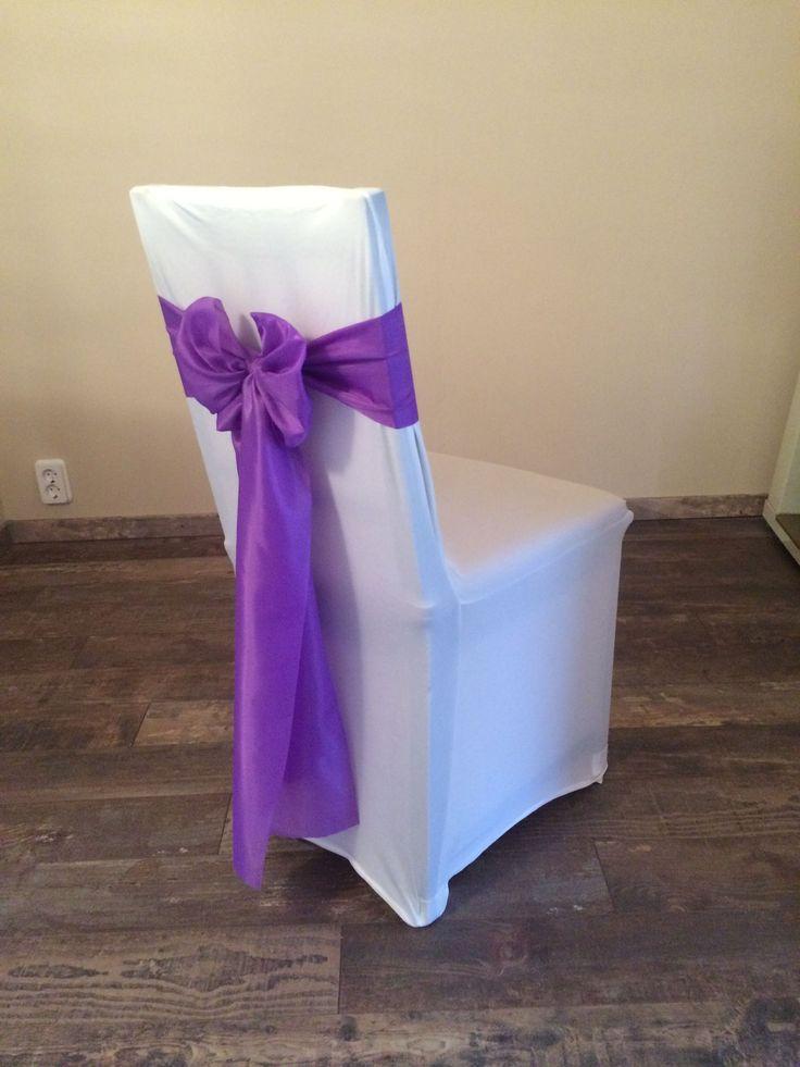 Bérelhető spandex székszoknya orgona (milka) lila színű selyem masnival Érd
