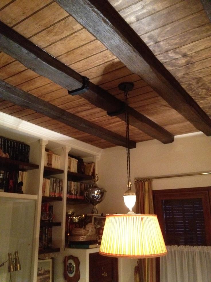 Forrado de techos con madera ranurada techos pinterest - Techo de madera ...