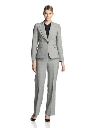 65% OFF Tahari by ASL Women's Multi-Check Pant Suit (Black/White)