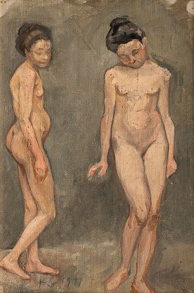 File:HUGO SIMBERG, STUDY OF A NAKED MODEL.jpg