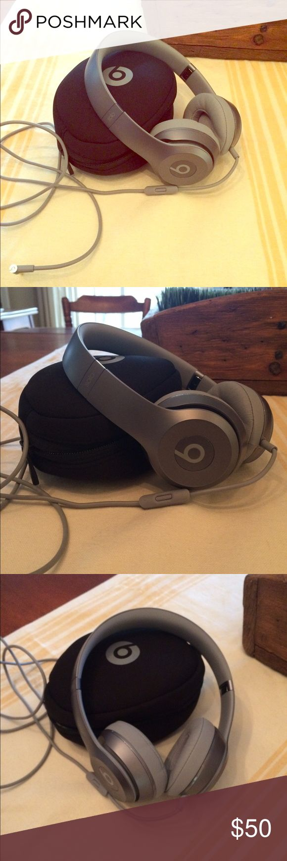 Beats by Dr Dre, grey headphones, never used Brand new Beats by Dr Dre headphones.  With case in excellent condition beats by dr dre Accessories