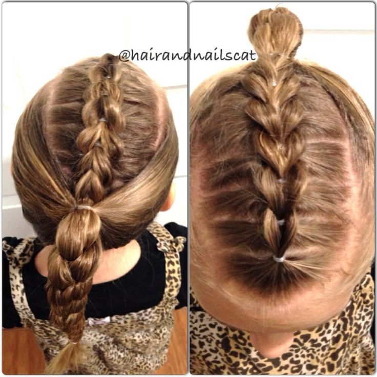 childrens haircuts pictures pull through knitted top braid into braided ponytail 5110 | 32bb57d5110a256f3861b3b27d68bca8