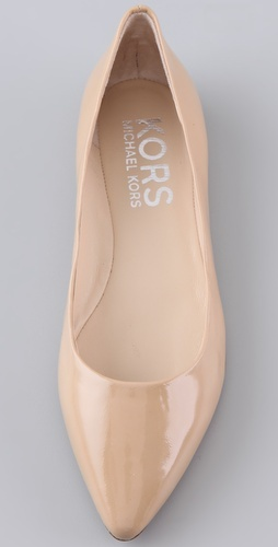 too pointy? kors michael kors odin nude patent flats