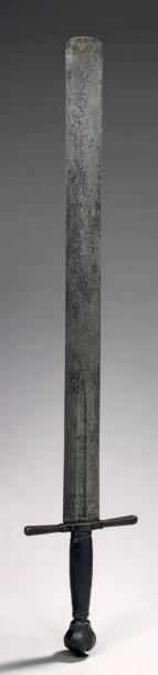 EPEE DE BOURREAU Fer L.: 98 cm Allemagne - XVIe siècle Bel état Il est - vente aux enchères 19/10/2012