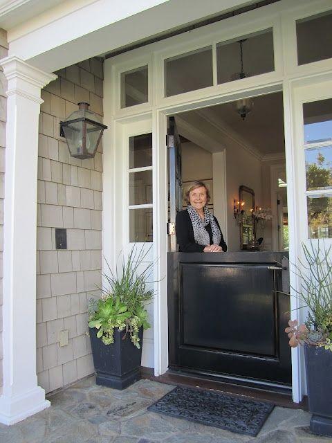 """""""Grove House: Making an entrance."""" Three split-door (a.k.a. Dutch door) images from heatherbullard.com (2 Apr. 2013)"""