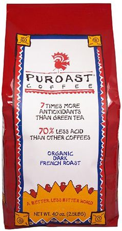 The Top Ten Best Coffee Brands in the World 2015, starting with, 10. Puroast Low Acid Coffee Organic French Roast Whole Bean, 2.5-Pound Bag