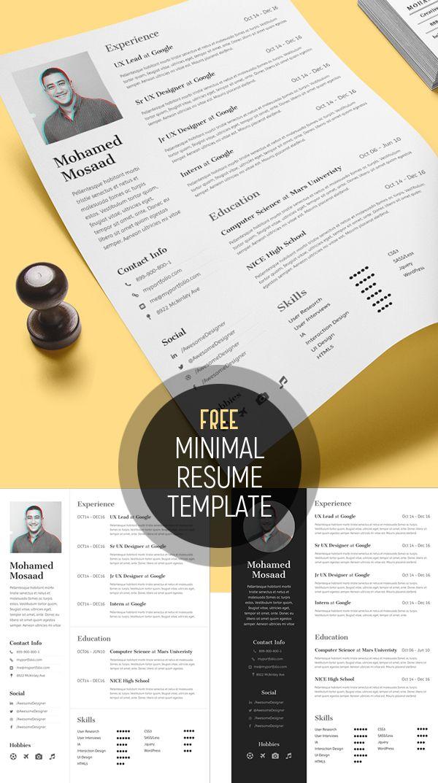 Free Minimal Resume Template (3 Variations) #resumetemplate #minimalresume #resumedesign #freebie #psdtemplate [L]