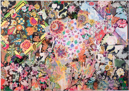 """The Beauty of Summer"" by Miriam Schapiro, 1973-74."