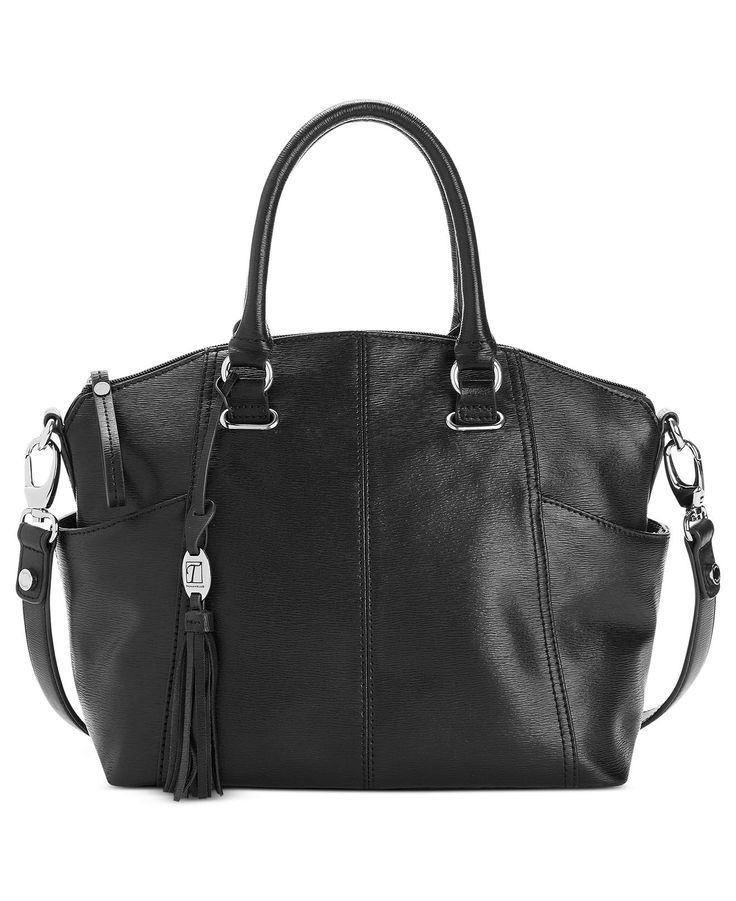 Tignanello Handbag, Sophisticate Leather Convertible Satchel - Black - Tignanello - Handbags & Accessories