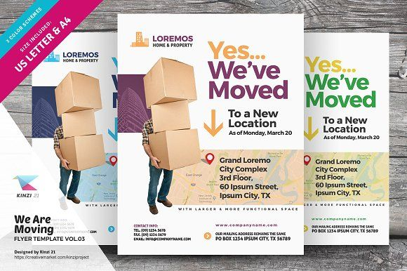 We Are Moving Flyer Vol03 By Kinzi21 On Creativemarket Flyer