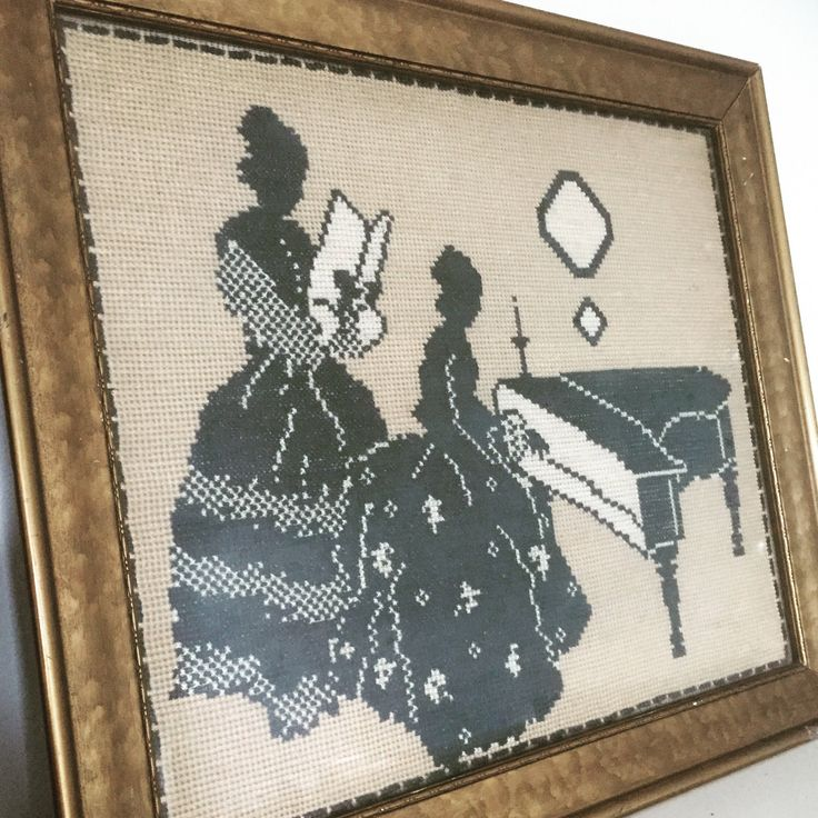 Cross Stitch/needlepoint/Georgian picture/wall/hanging by WifinpoofVintage on Etsy