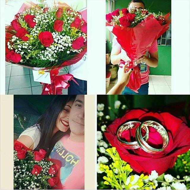 Comemorando 2 Anos De Namoro Com Esse Buque Lindo De Rosas E