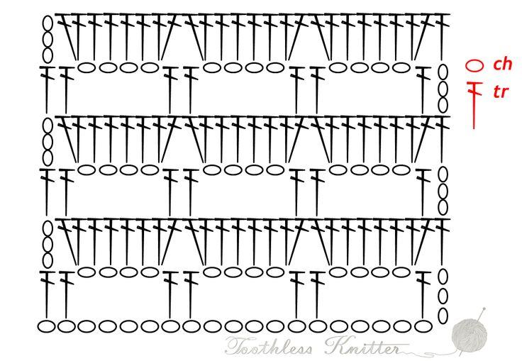 Splot Ażurowy: Łuki / Lacy Stitch: Bows