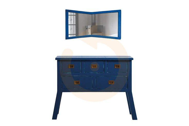 Deniz mavisi güzelliğini taşıyan modern dresuar modeli Maviş Dresuar Mobilyam Online farkı ile satışta!