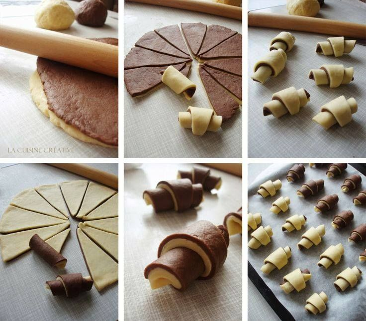 #croissant #bicolor #pastry #brisée #vanilla #chocolate #homemade #tutorial #stepbystep