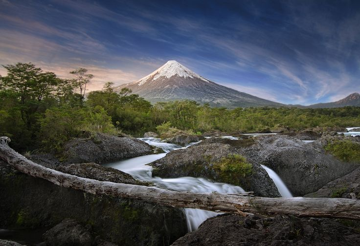 Fly to Chile's Lake District, where you'll experience Vicente Pérez Rosales Park, Osorno Volcano, and Petrohue Waterfalls.