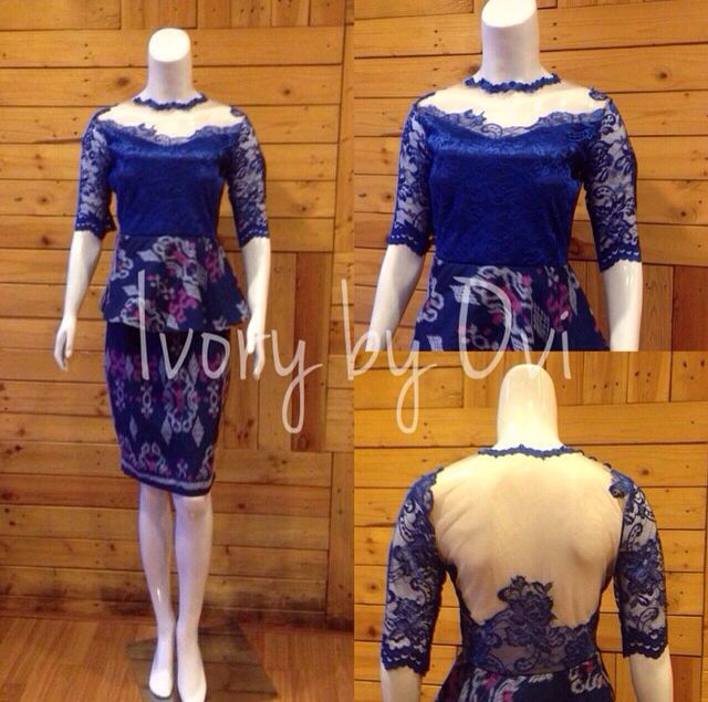 blue lace songket
