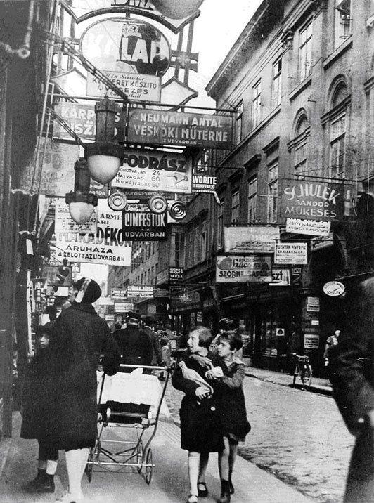Hungary. Király Street, Budapest, 1929