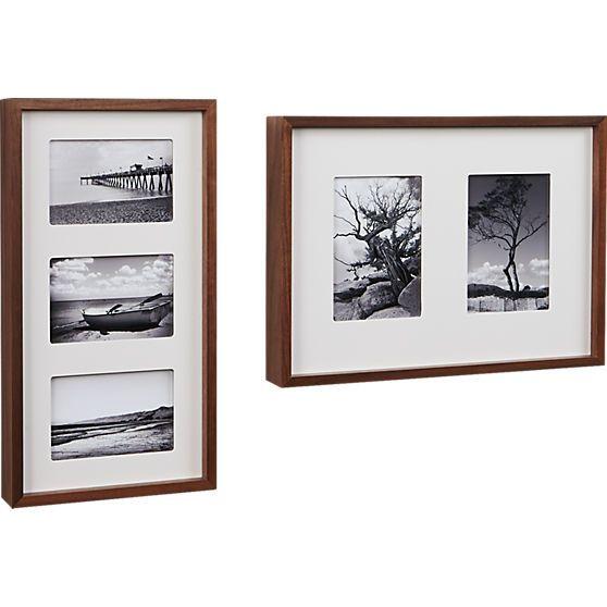 walnut multi 5x7 box picture frame | CB2  sc 1 st  Pinterest & 25+ unique Box picture frames ideas on Pinterest | DIY beauty box ... Aboutintivar.Com