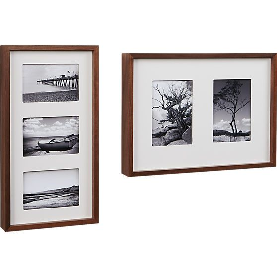 walnut multi 5x7 box picture frame in frames cb2
