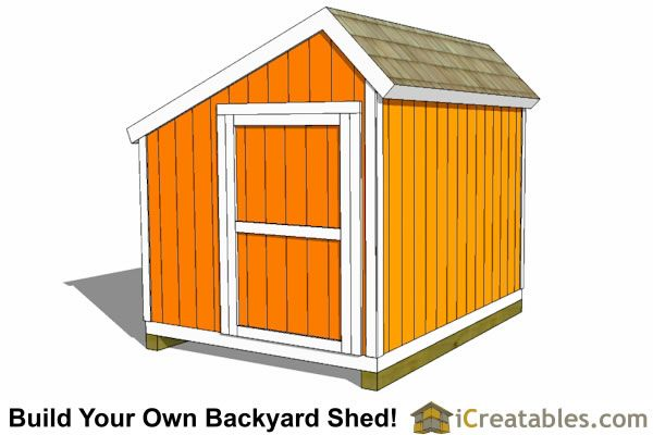 8x10 Saltbox Shed Plans Storage Shed