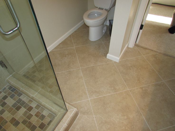 diagonal bathroom tile 18 x 18 rectified porcelain floor on a diagonal pattern on 12684