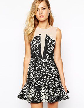 Enlarge Stylestalker Rumor Has It Pep Hem Dress In Animal Print