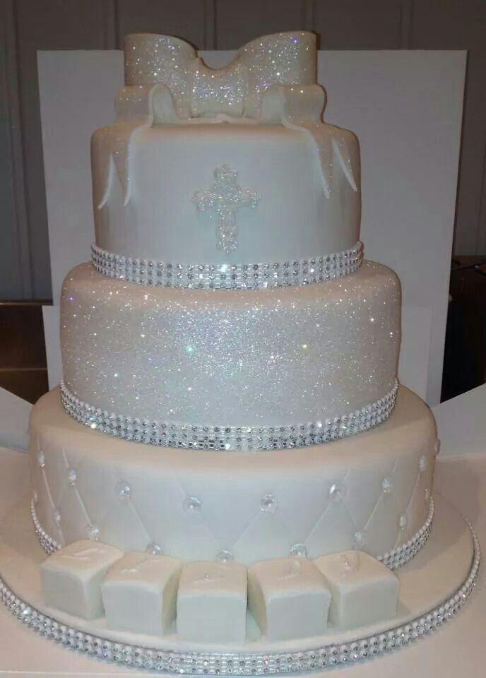 Sparkling christening / holy communion cake