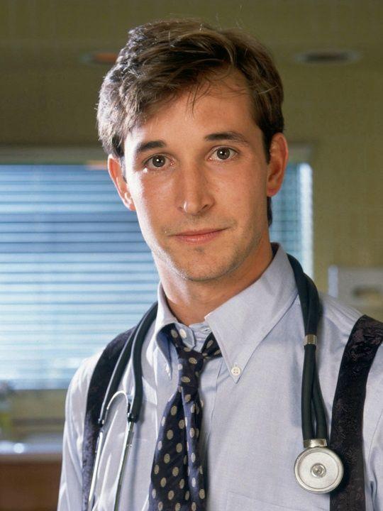 Noah Wyle as Dr. John Carter in ER.