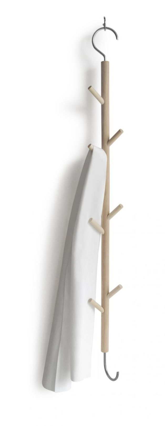 Aus einem Haken wird achtmal hängen. Der Hängehaken braucht wenig Platz, ist schmal und schnell bereit. Ideal im Flur, im Bad, in der Küche oder als ergänzende Garderobe für Kinder. Maße