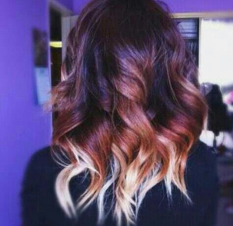 ombre hair dark red and blonde - LOVE - Pinterest - Dark, Red to ...