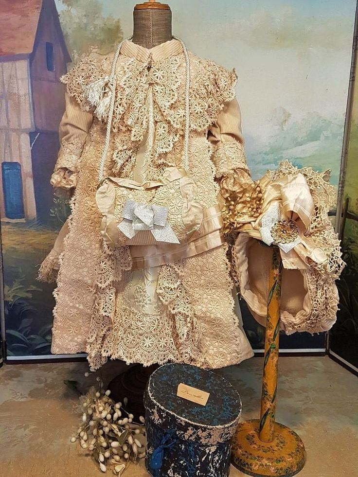 ~~~ Fancy French Coat Dress with Bonnet and Muff ~~~