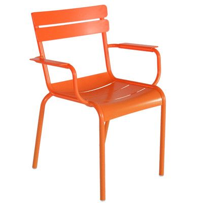 Fermob Luxembourg Stacking Dining Arm Chair Finish: Carrot