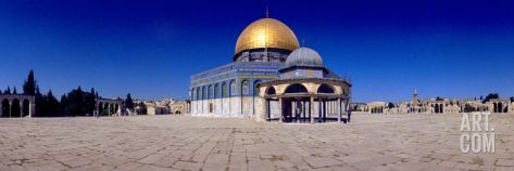 Dome of the Rock, Temple Mount, Jerusalem, Israel Photographic Print at Art.com