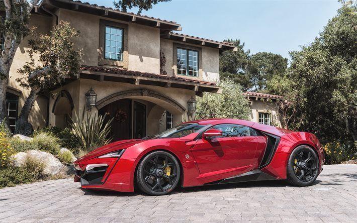 Télécharger fonds d'écran lykan hypersport, W Motors, rouge lykan, Supercar, Arabe supercars, la lykan