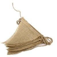 Wish | Hot 2.8M Rustic Jute Hessian Burlap Lace Bunting Shabby Chic Wedding Banner