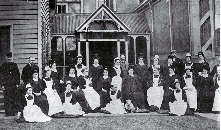Nursing staff at Christchurch Hospital 1890's