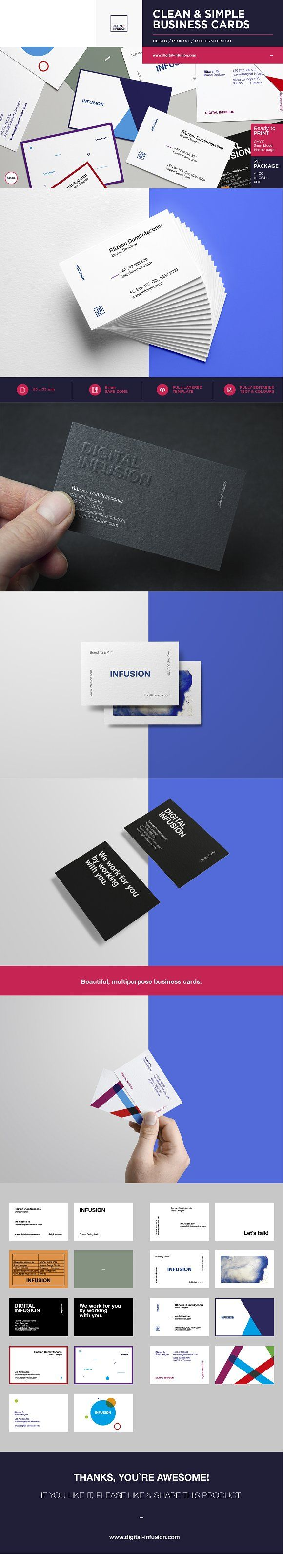 Best 25 free business cards ideas on pinterest free business clean modern business cards creativework247 magicingreecefo Images