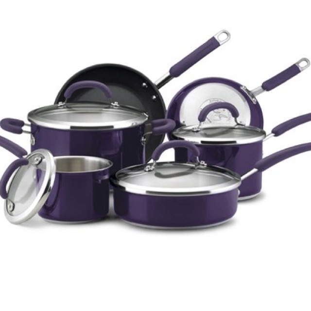 I want. A lot. Racheal Ray new eggplant cookware.