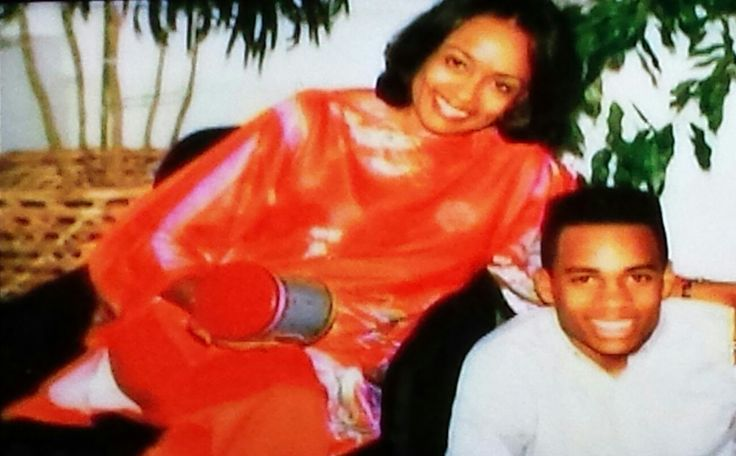 Hill Harper with his mother.