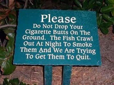 If I had a pond, I would probably put this sign up, just for the hell of it...