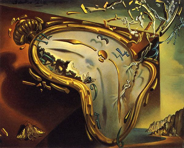 Salvador dali, Soft Watch at moment of Explosion, 1954