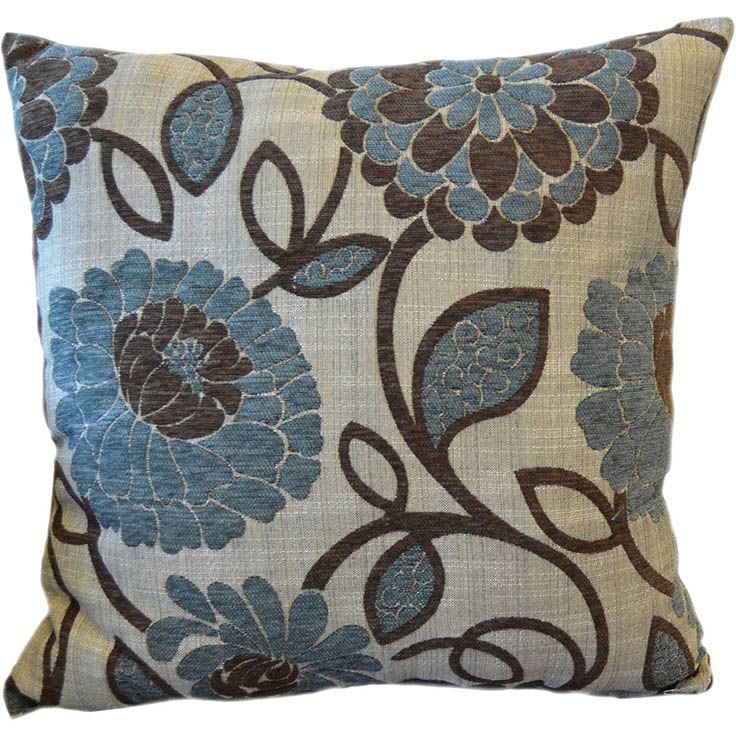 Better Homes And Gardens Blue Floral Decorative Pillow
