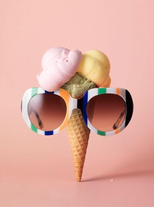 Fashion Catalog in JAN Magazine Photography by Frank Brandwijk I Styling Ramona da Cruz Lopes I 'Sunny Sunglass Ice Cream' 'Photo Illustration' 'Fun' 'Accessories Product Stills'