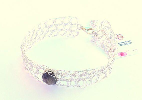 Bracelet labradorite / bijou en labradorite bleue gris / bijou