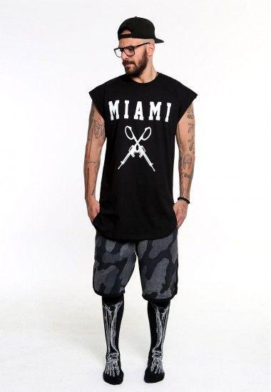 miami guns sleeveless  #vagrancylifestyle #handmade #top #man #sleeveless #tshirt