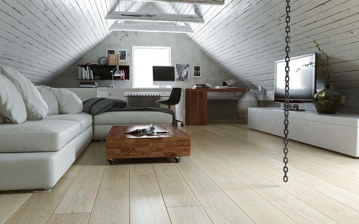 FertigDeska Luxury - Dąb Elegance Bielony