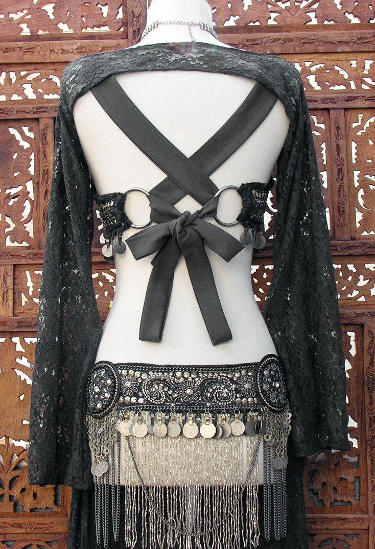 Hollywood Tribal Beaded Belt Black Belly Dance Scarlet's Lounge. $179.99, via Etsy.